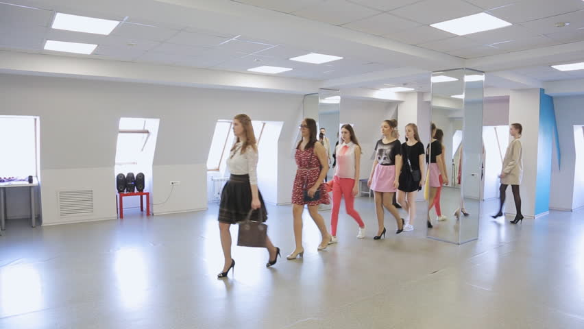 In model school females are getting ready for defile. | Shutterstock HD Video #19842796