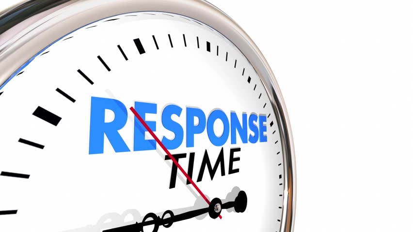 Response Time Clock Fast Speed Service Attention 3d Animation #19846873