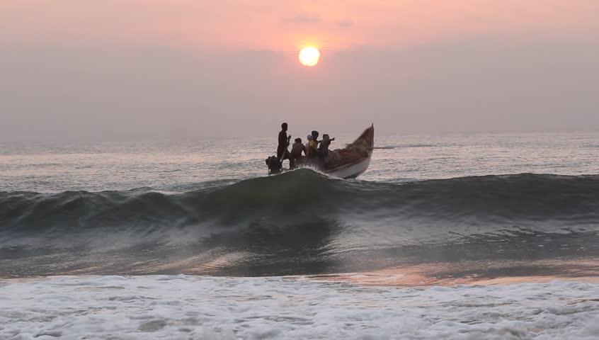 Fishermen Traveling in sea. | Shutterstock HD Video #1985275
