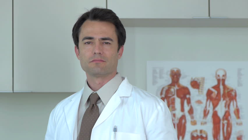 Portrait of doctor in clinic - HD stock footage clip