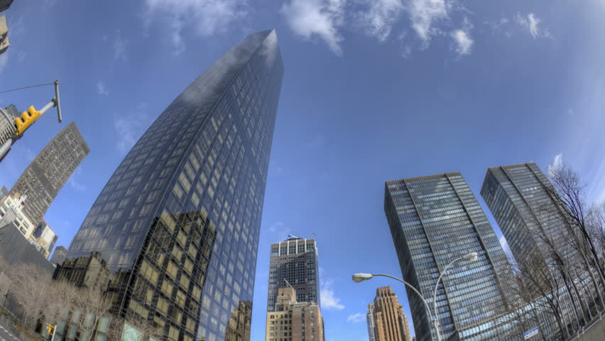 NEW YORK CITY - FEB 12: HDR Timelapse of Trump Tower on 1st Ave with clouds passing by at daytime on February 12, 2012 in New York City, USA.