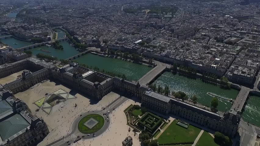 Aerial view of the paris. | Shutterstock HD Video #19901206
