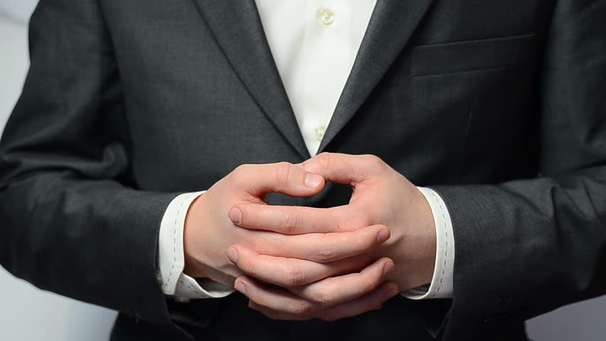 Technology Management Image: Businessman With Cupped Hands As If Holding Something