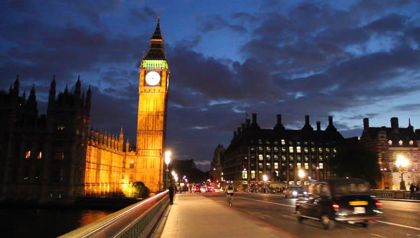 Parliament and Big Ben at night, London, England