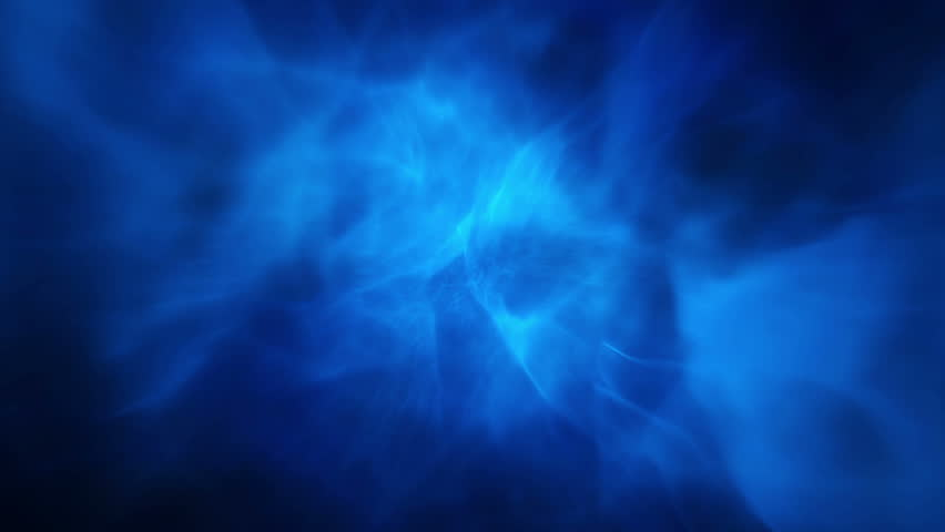 animated blue fog against a black background stock footage