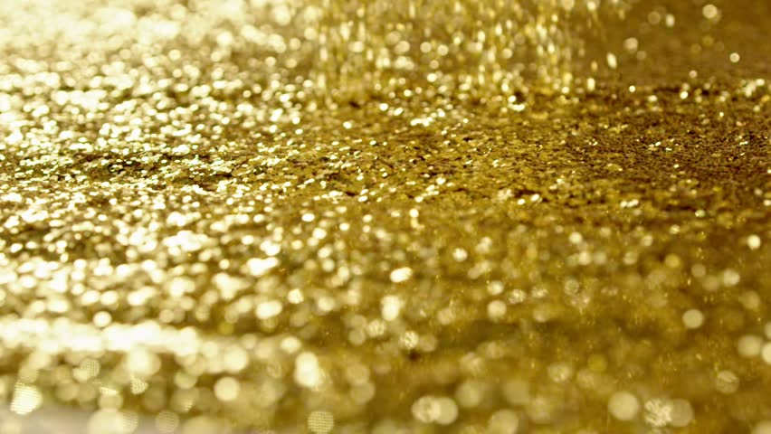 Golden glitter dynamic movements in slow motion | Shutterstock HD Video #20271619
