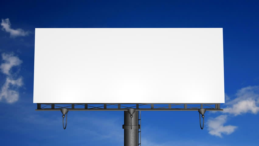 Blank Billboard with Moving Clouds (HD)