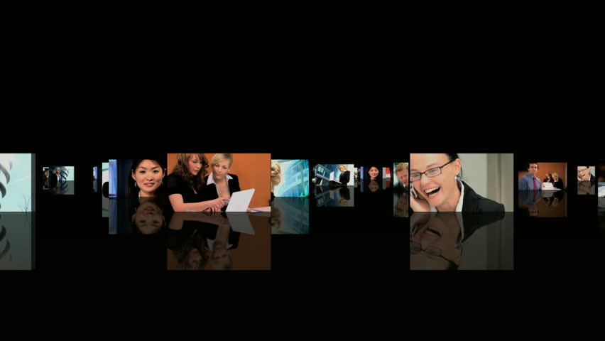 Business media world - HD stock footage clip