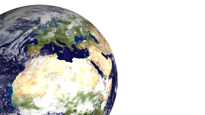Earth 06 (HD) - boxes are creating Earth on the white background. | Shutterstock HD Video #203752