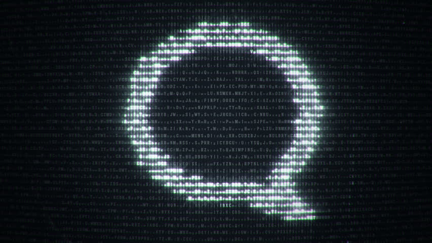 Abstract background with binary code and symbol of computer technologies on display screen. Animation of seamless loop.   Shutterstock HD Video #20488078