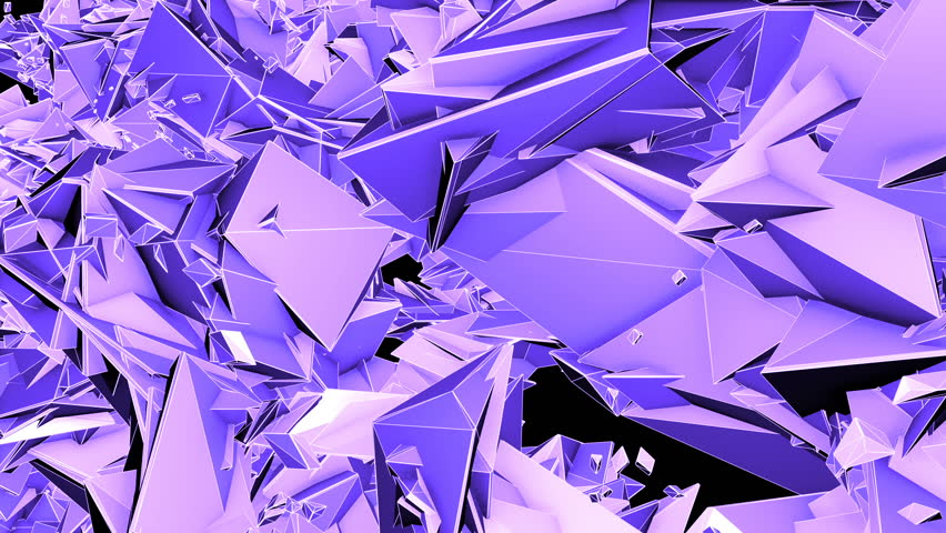 A variety of polygonal shapes fractal form a large field | Shutterstock HD Video #20535427