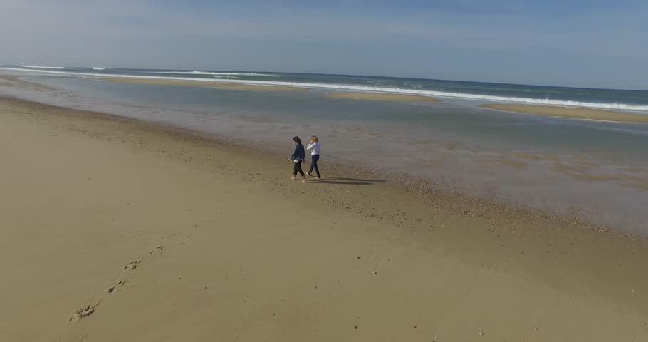 Women walking on the beach | Shutterstock HD Video #20540872