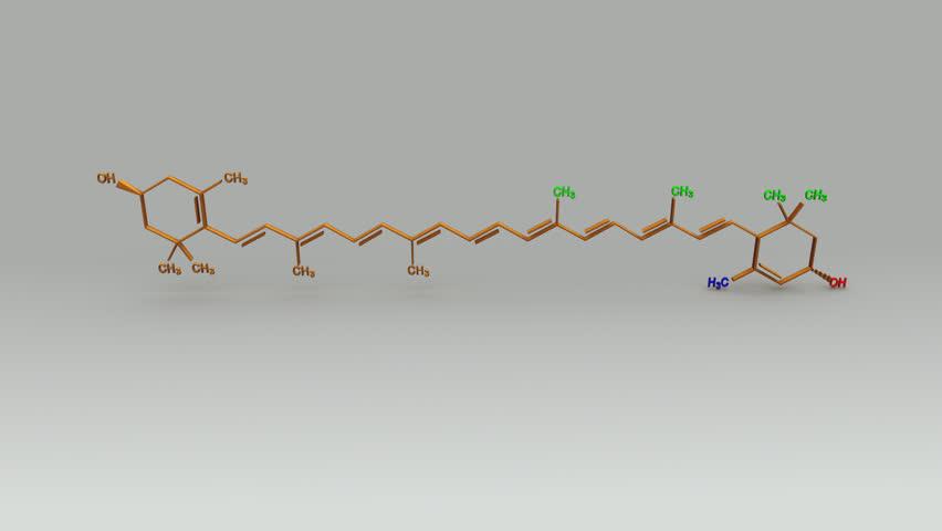 Xanthophyll Structure | Shutterstock HD Video #20549026