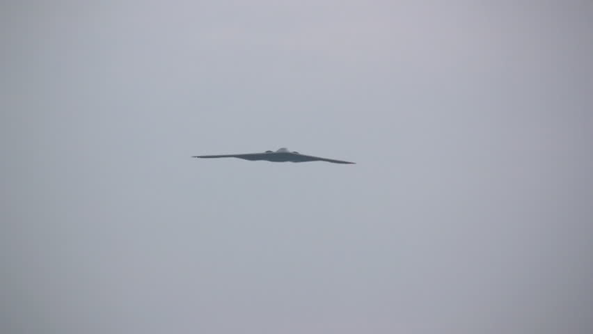 Stealth Bomber flying overhead