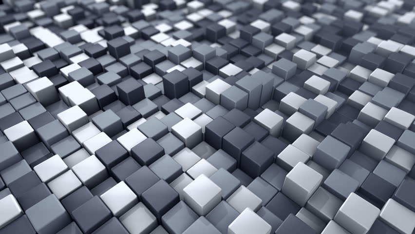 Abstract background with animation of wave mosaic of squares. Technological backdrop. Animation of seamless loop. | Shutterstock HD Video #20627875