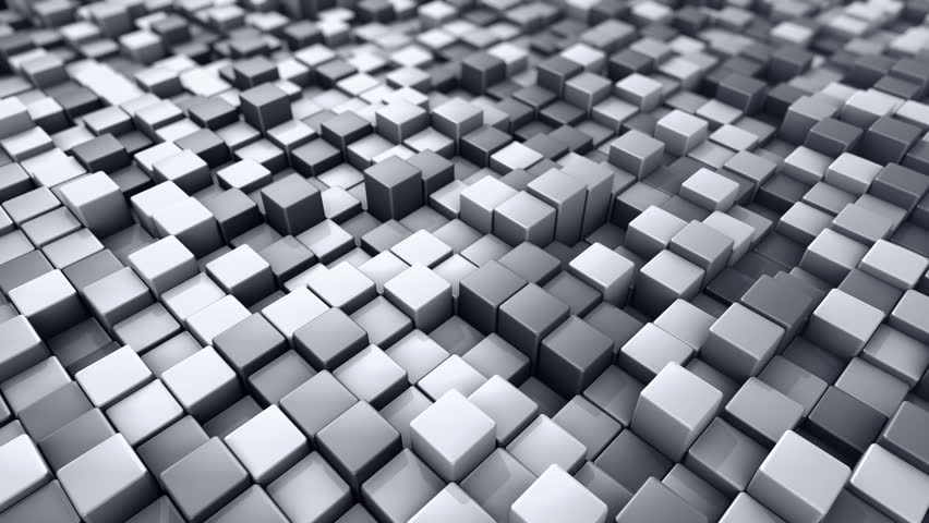 Abstract background with animation of wave mosaic of squares. Technological backdrop. Animation of seamless loop. | Shutterstock HD Video #20627947