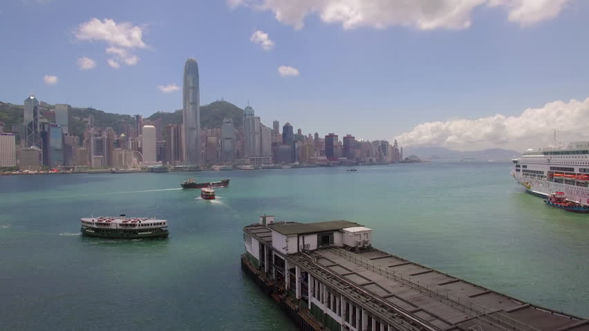 Flying over ferry towards Hong Kong | Shutterstock HD Video #20639287