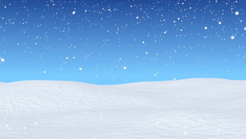christmas snow falls gently on rolling snowcovered hills