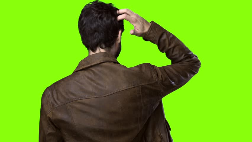 Young cool man doubting on chroma  | Shutterstock HD Video #20930572