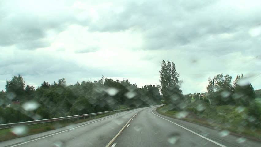 Cars driving in rain 11  - HD stock footage clip