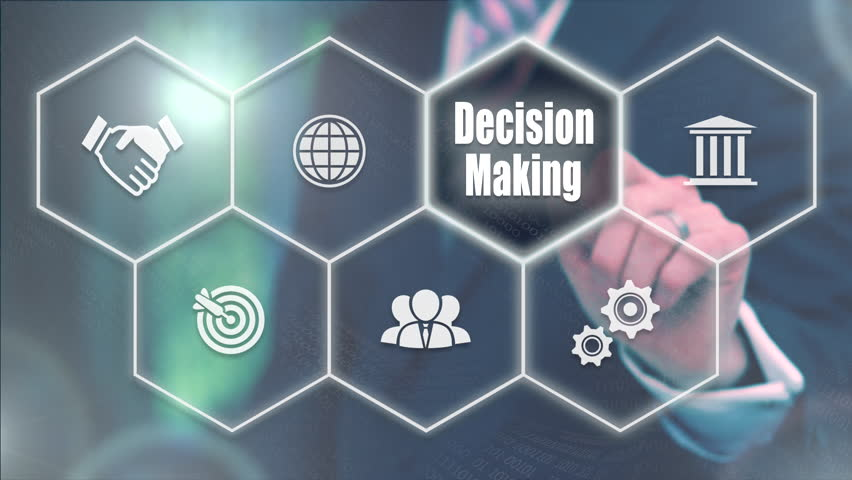 Businessman pressing a Business Decision Making concept | Shutterstock HD Video #20944369