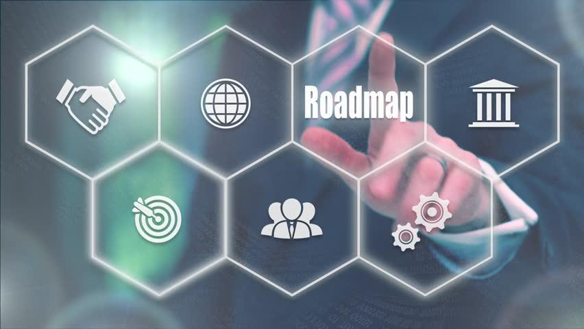 Businessman pressing a Business Roadmap concept | Shutterstock HD Video #20992726