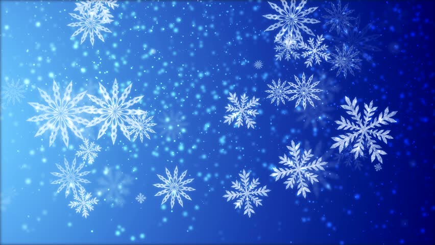animated background with snowflakes stock footage video