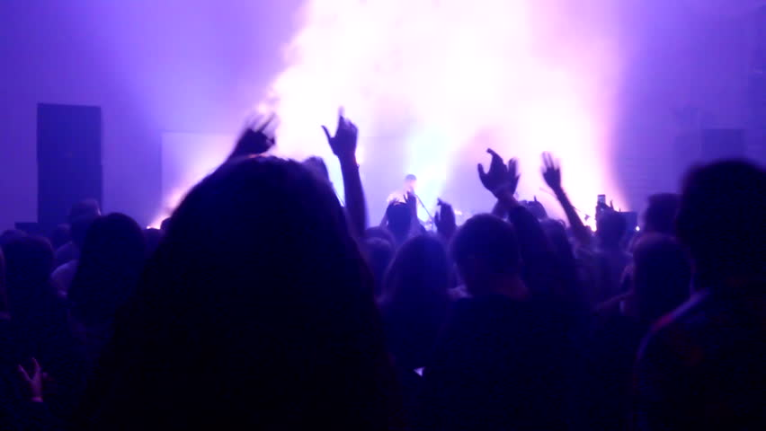 Footage of a crowd partying at a rock concert | Shutterstock HD Video #21252205