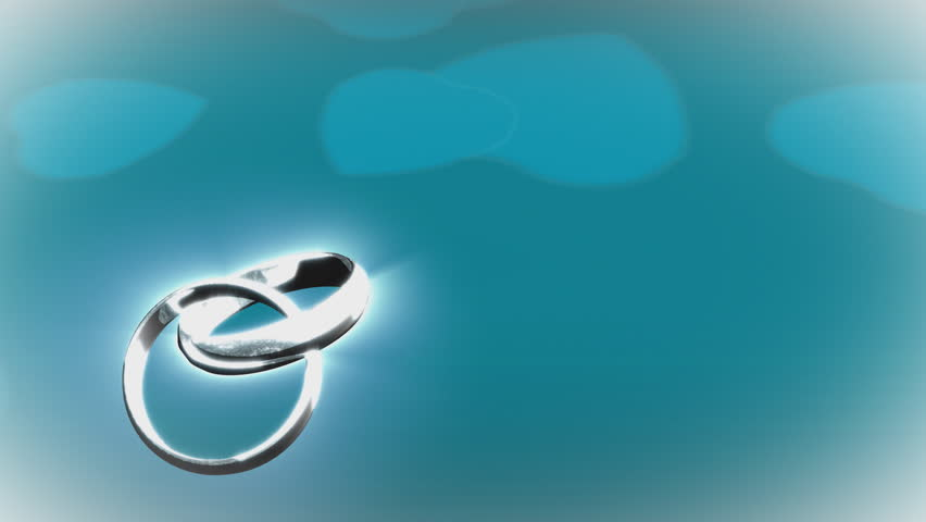 Two Wedding Rings On Black Background 3D Stock Footage Video 49444 - Shutterstock