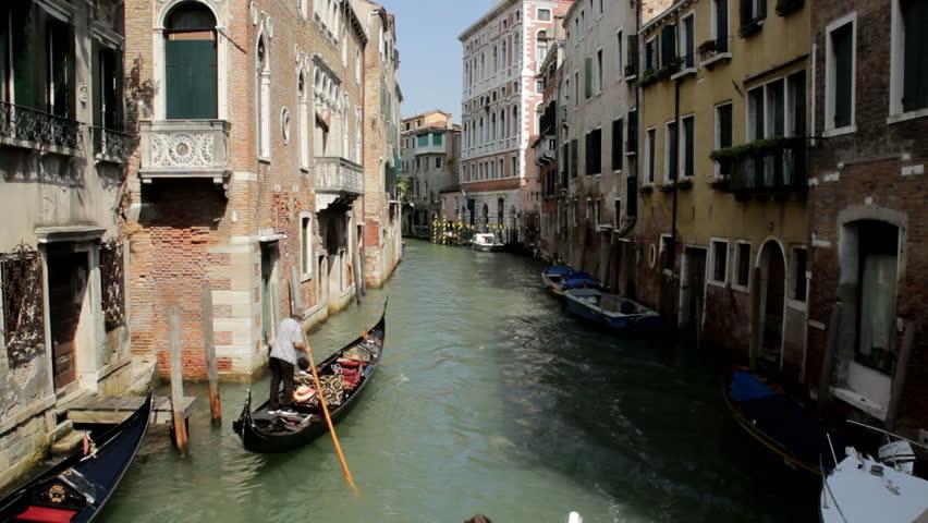 Venice water canal Gondola Italy | Shutterstock HD Video #21308851