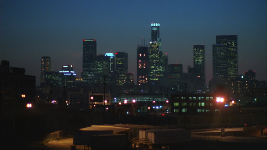 Sunrise Sunset High angle Across industrial area, Los Angeles skyline | Shutterstock HD Video #21317293