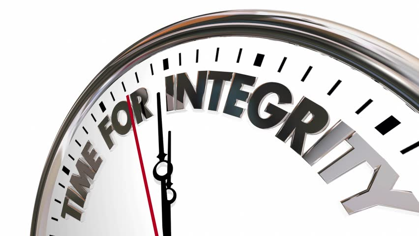 Time for Integrity Clock Honesty Trust Reputation 3d Animation #21338227