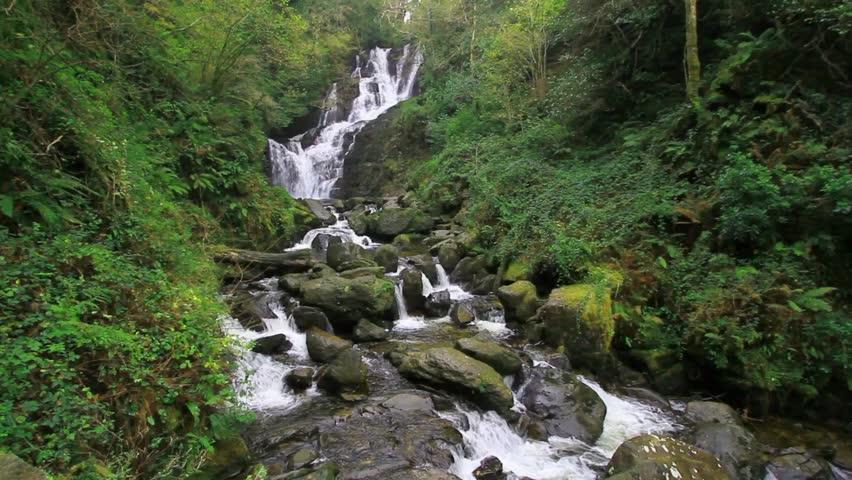 Torc waterfall in Killarney National Park, Co. Kerry, Ireland