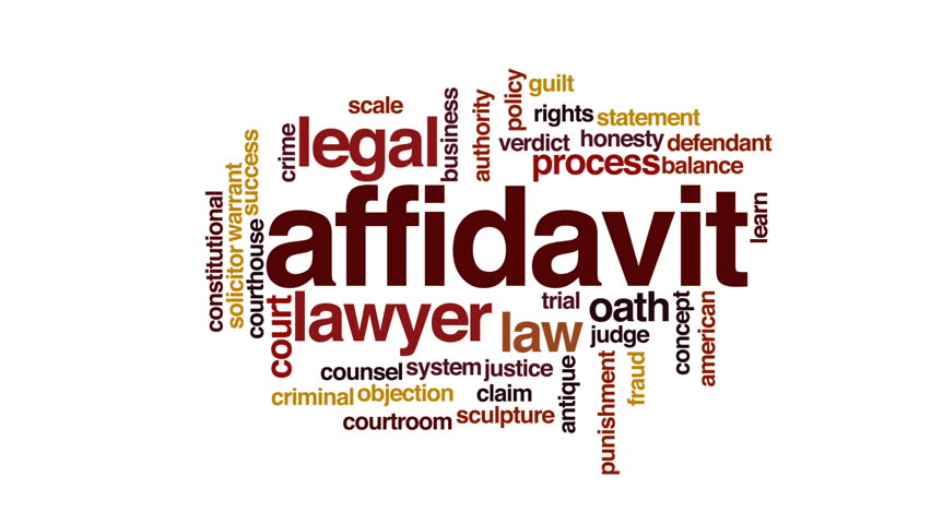 Header of affidavit