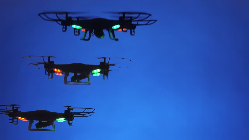 Black Drones with strobe effect.  | Shutterstock HD Video #21606346