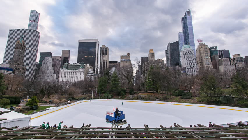 New York Central Park Ice Skating - Time Lapse #21750013