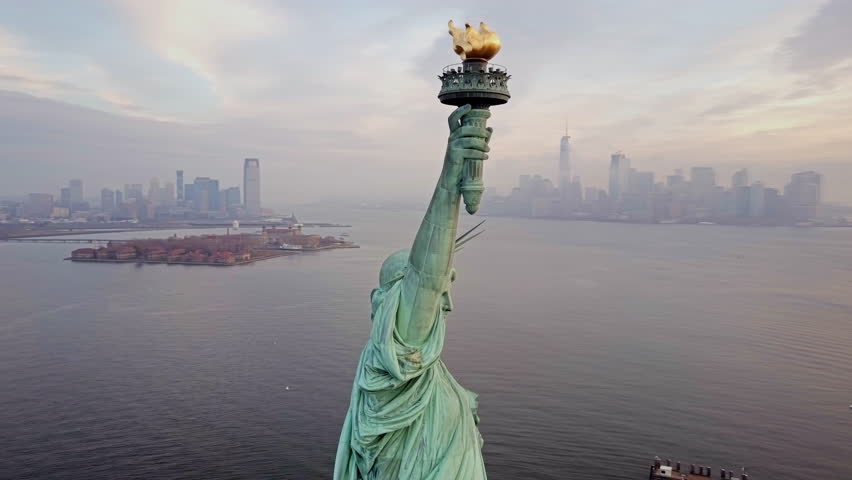 Aerial view Statue of Liberty 4K | Shutterstock HD Video #21750733