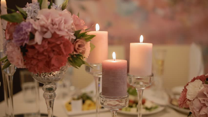 Love Pink Orchid Flower Romantic Wallpaper 24 3687 Hd: Romantic Valentine's Day Candles And Flowers. Romance