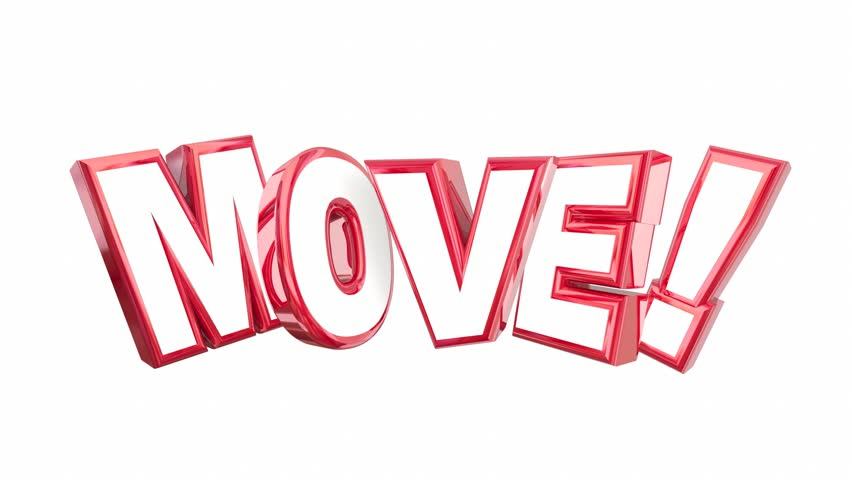 Move Get Going Moving Take Action Word Rising 3d Animation | Shutterstock HD Video #21824029