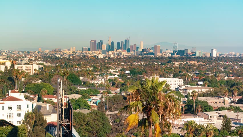 The Downtown Los Angeles skyline as seen from West Hollywood | Shutterstock HD Video #21842965
