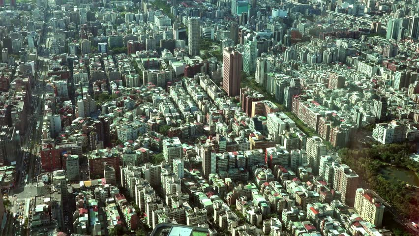Offices and buildings of downtown Taipei. Taipei serves as the island's financial, cultural and governmental centre. 4K | Shutterstock HD Video #21894823