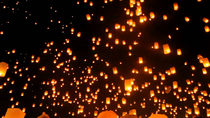 Release floating lanterns to the sky , Lantern festival | Shutterstock HD Video #21900124