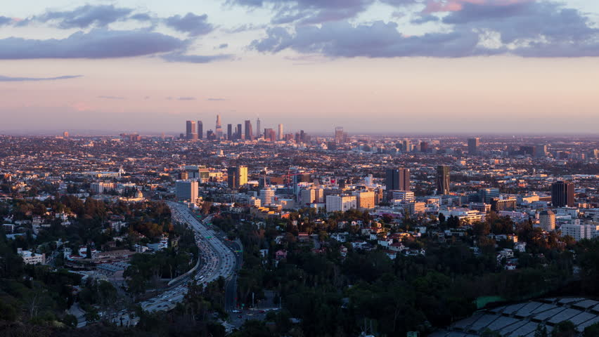 Los Angeles and Hollywood Day To Night Sunset Timelapse | Shutterstock HD Video #21938572