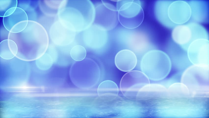 blue circle bokeh lights and reflection on ice. computer generated loopable abstract motion background, slight film grain. HD 1080 pogressive. - HD stock footage clip