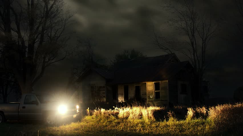 Timelapse night to day of haunted house. | Shutterstock HD Video #2204641