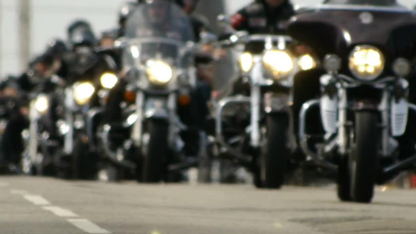 HD - Bikers - HD stock video clip