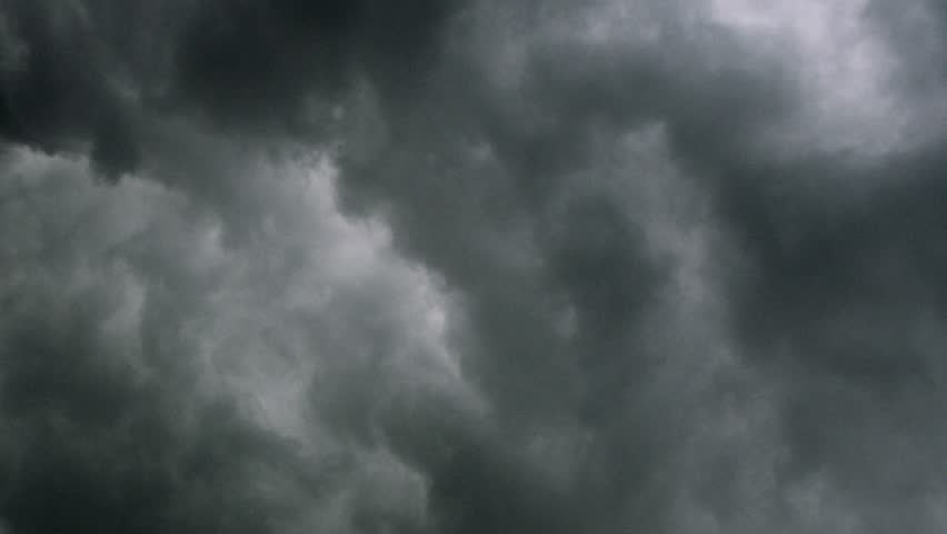 Very Dark Storm Clouds Passing. Time Lapse Clip. Stock ...