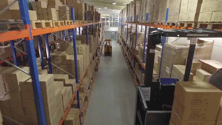Flying through the big factory warehouse.  | Shutterstock HD Video #22359169