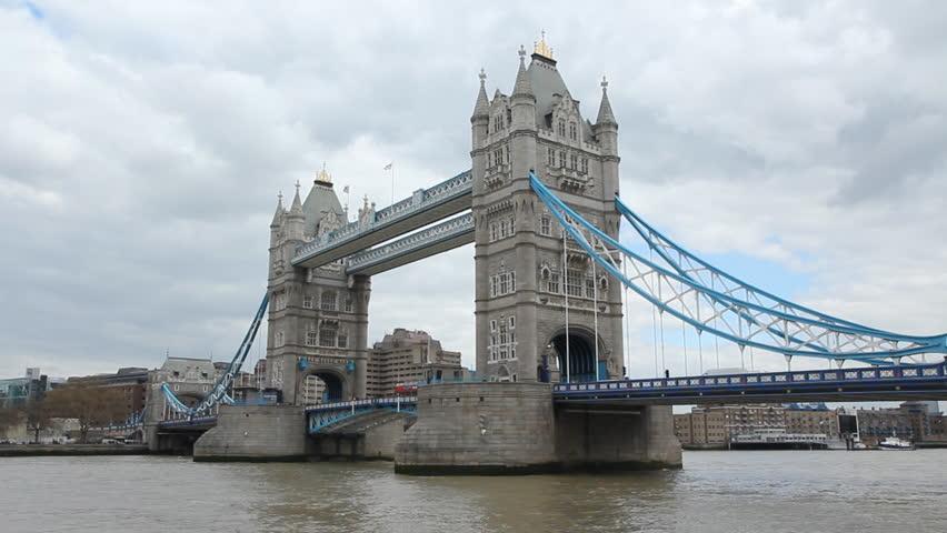 Tower Bridge, London, United Kingdom Stock Footage Video ...