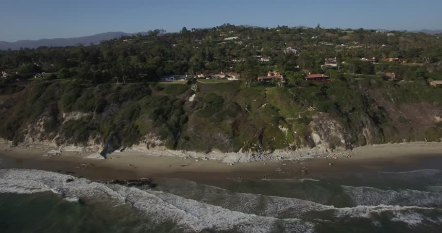 Aerial footage over the beach at Santa Barbara, California   | Shutterstock HD Video #22379239